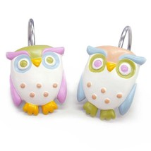 Allure Home Creations Awesome Owls Resin Shower Curtain Hooks - $13.51
