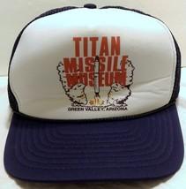 Vintage Titan Missile Museum Mesh Trucker Snapback Hat Green Valley Ariz... - $32.46