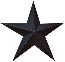 "Black Metal Barn Star 36"""