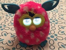 Furby Boom Pink White Polka Dot Talking Hasbro Interactive Toy 2012 Teal... - $21.99