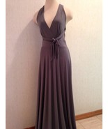 NWT Eva Mendes Bridal Party Collection Washable Long Formal Gray Gown Si... - $24.49