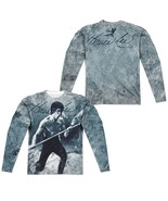 Bruce Lee Whooaa Picture signature Allover F/B Sublimation Long Sleeve T... - £33.90 GBP+