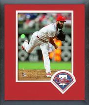 Jake Arrieta 2018 Philadelphia Phillies Action-11x14 Logo Matted/Framed ... - $43.95