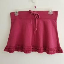 Juicy Couture Petite Skirt Purple Mulberry Drawstring Waist 3-Tier Ruffl... - £15.28 GBP
