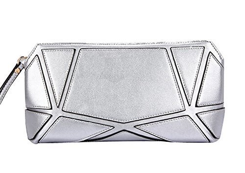 Fashion PU Evening Clutch Handbags SILVER