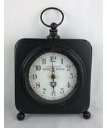 Vintage Hotel La Fleur Paris Table Clock Rusty/untested - $18.70