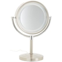 Jerdon HL745NC 8.5-Inch Halo Lighted Vanity Mirror with 5x Magnification... - $48.99