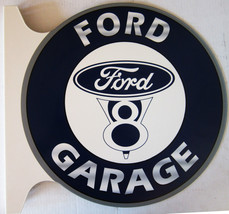 "Ford V8 Garage Flange Sign 19"" Wide by 18"" Tall - $99.95"