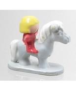 1991 Original Polly Pocket Dream World - Misty - Gray Horse with Rider B... - $7.50