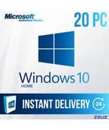 Microsoft Windows 10 HOME - 20PC 32-Bit and 64-Bit - Digital Delivery  W... - $149.99