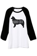 Thread Tank Border Collie Dog Silhouette Unisex 3/4 Sleeves Baseball Raglan T-Sh - $24.99+