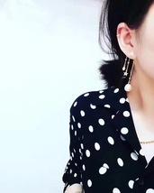 Authentic Christian Dior Star Crystal PERLES DE DÉSIR Dangle Drop EARRINGS  image 2