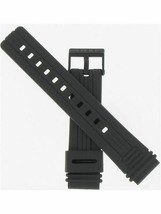 Casio 19mm Black Resin Watch Band ''70635553'' Fits Watch Model AW23-1EZ - $12.95