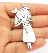 LOS CASTILLO MEXICO 925 Silver - Vintage Little Girl Motif Brooch Pin - ... - $37.26