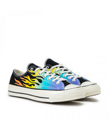 Converse Chuck 70 Ox Flames Archive Print Canvas 164407C Black/Turf Oran... - $59.99