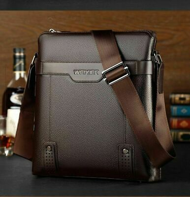 Men/'s Leather poitrine Cycle Sling Sacoche Bandoulière Sac Épaule Business Sac