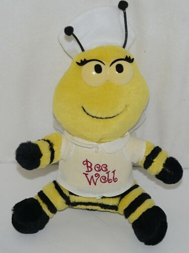 Bee Well Yellow Black Striped Plush Nurse Honeybee Sheer Wired Wings