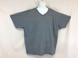 Fruit Of The Loom Size 2XL Gray V Neck Tee Short Sleeve T-Shirt Cotton - $13.85