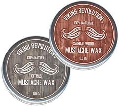 Mustache Wax 2 Pack - Beard & Moustache Wax for Men - Strong Hold Helps Train Ta image 9