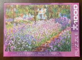 Eurographics 1000 Pc Jigsaw Puzzle - Monet's Garden - by Claude Monet Fine Art - $12.13