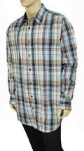 New Tasso Elba Big Tall Long Sleeve Plaid Button Front Shirt Xlt 17-17 1/2 $69 - $19.99