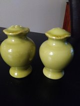 "Vintage Green 4"" Salt and  Pepper Shakers Made in Italy (Sale & Pepe) image 3"