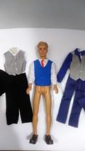 . 2007 Mattel Blonde Hair - Blue Eyes Ken Doll and accessories - $30.99