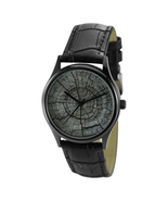 Tree Ring Watch Black Unisex Free Shipping Worldwide - £27.84 GBP