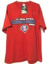 MLB Philadelphia Phillies NL East Champions 2008 Red T Shirt Size XL New    MT30 - $14.75