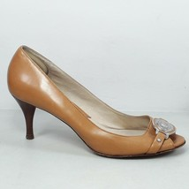 Michael Kors Womens Caramel Leather Stiletto Pumps High Heels Shoes Siz... - $34.99