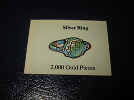 1980 TSR D&D: Dungeon Board Game Piece: Treasure 2nd Level Card- Silver Ring - $1.00
