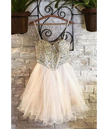 Luxury Crystal Beaded Short Prom Dress A Line  Sweet 16 Prom Gowns Homec... - $135.77