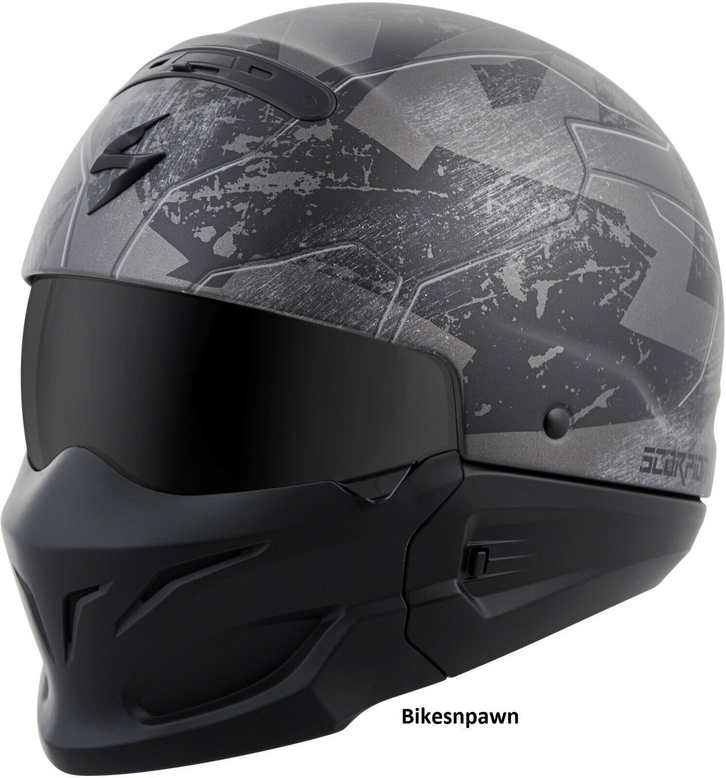 New Size XS Scorpion Covert Ratnik Phantam Black 3 in 1 Motorcycle Helmet DOT
