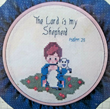 The Lord is my Shepherd 23rd Psalm DMC Counted Cross Stitch Kit w Framin... - $14.84