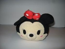 Disney Store Tsum Tsum Minnie Mouse Red Black White Polka Dots Plush Med... - $4.90