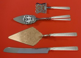 Old Lace by Towle Sterling Silver Dessert Serving Set 4pc Custom Made - $299.00