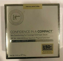 It Cosmetics Confidence In A Compact Solid Serum Foundation SPF50 Light Nib - $129.99