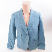 Women's Talbots Blazer. Size 8.  Blue/Teal Wool/Poly blend. Free Shipping! - $26.11