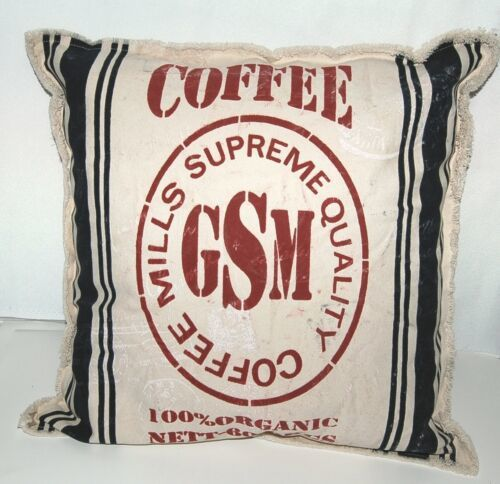 The Workroom Throw Pillow Handmade Cover Coffee Beige Red Blue