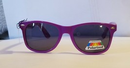 Way Cool Classic Neon Purple Glare Blocking Polarized Sunglasses w Spring Hinges - $9.87