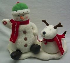 Hallmark Jingle Pals 2004 ANIMATED SNOWMAN W/ DOG Plush Display Jingle B... - $39.60