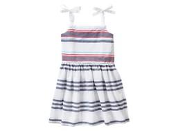Gymboree Nwt Star Spangled Striped Sundress White Dress Smoked Back Size 8 Girls - $10.29