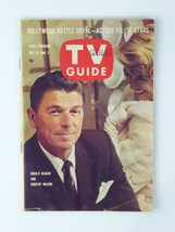 Ronald Reagan Dorothy Malone NO LABEL Vintage TV Guide 1961 Magazine - $11.83