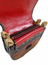 Leather Suede Cowhide Handcrafted Lot - Belt Handbag Bag Purse Clutch Stocking image 3