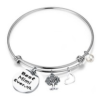 RQIER Gift for Mimi Best Mimi Ever Bracelet Expandable Wire Bangle for G... - $14.96