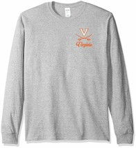 Virginia Cavaliers Long Sleeve LS T-Shirt~GRAY~Men's~Home Team~NCAA~Ship... - $16.26
