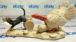 "Lowell Davis ""Makin' Tracks"" Figurine  1982 Schmid IOB Turkey Hound Dog - $133.63"