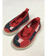 Gymboree Prep School Toddler 3 Navy Blue Red Pink Apple Shoes Mary Janes - $9.99