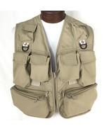 Vintage Columbia Sportwear Co Fly Fishing Photography Shooting Khaki Ves... - $52.25
