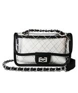 Olyphy Designer Shoulder Bag for Women Transparent Clear Handbag PVC Wat... - $20.02